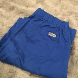 Dark blue scrubs